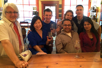Photo: Making new friends on the wine tour
