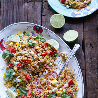 Summer Grilled Mexican Street Corn Quinoa Salad.