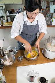 黒千石レシピ:黒千石シフォンケーキ・作り方