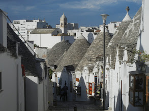 Photo: Looking down on the town from the trulli district.