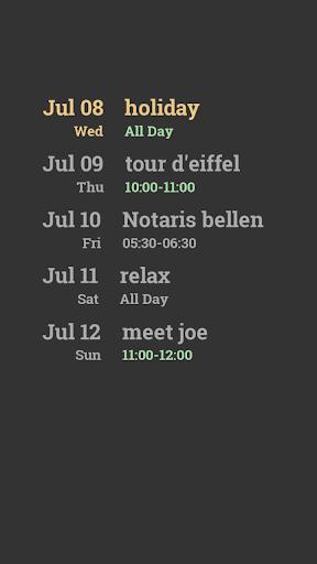 Calendar to Map KLWP Komponent