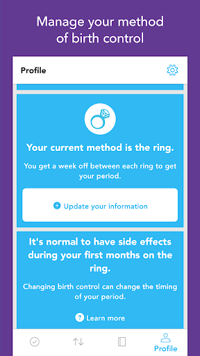 Spot On Period, Birth Control, & Cycle Tracker screenshot