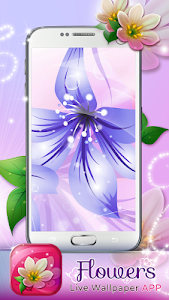 Flowers Live Wallpaper App screenshot 0