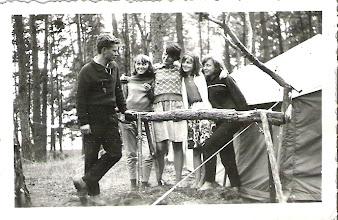 Photo: Obóz w Rudach k/Puław - sierpień 1964r. Od lewej: hm. Krzysztof Woźniak,