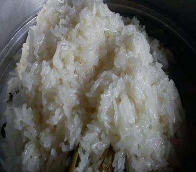 A plate of food with rice  Description automatically generated