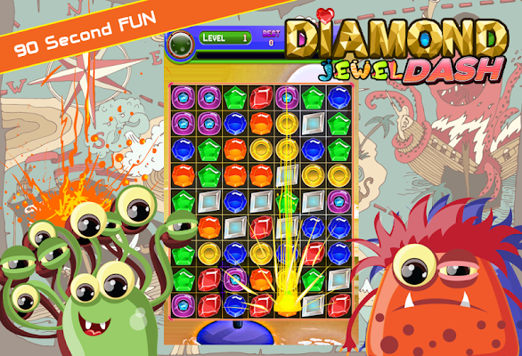 Diamond Jewel Dash - screenshot