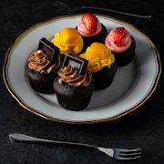 Belgian Dark Chocolate Cupcakes (Bite-size)