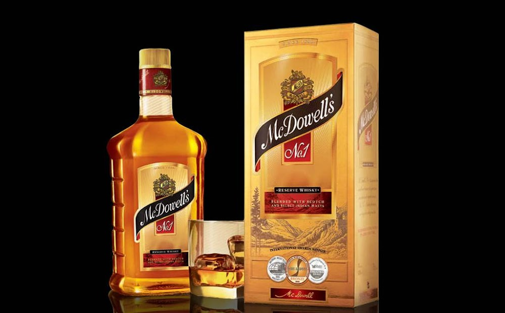 best-whisky-brands-india-Mc-Dowell's-No.-1-Price-Rs. 404 for 750 ml.