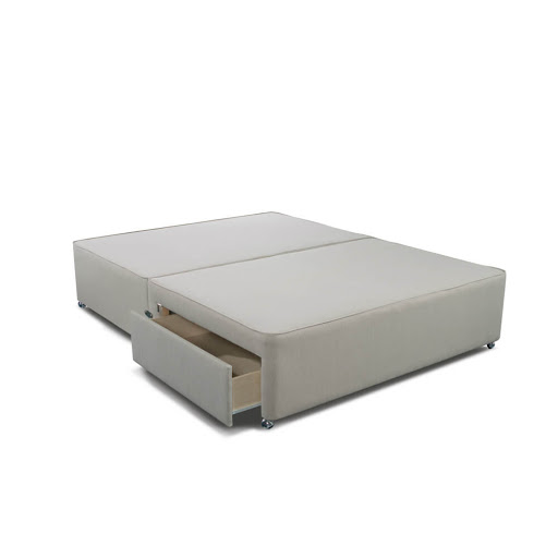 Sleepeezee Deluxe Divan Bases Light Grey