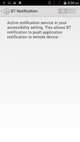 android BTNotification Screenshot 2