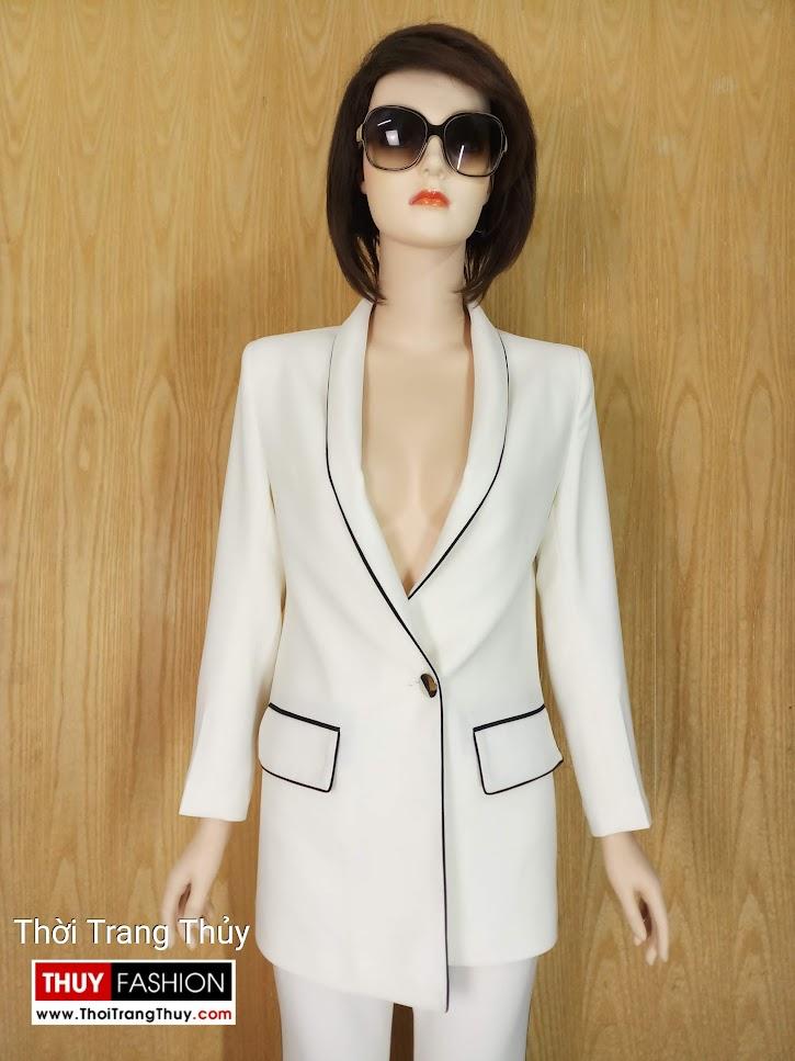 Áo blazer nữ đen trắng V662