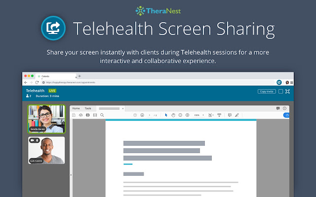 TheraNest Screen Sharing