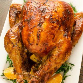 Dry Brined Orange Rosemary Roasted Turkey Recipe