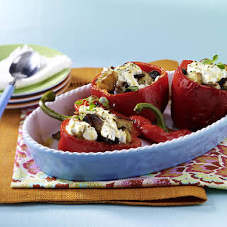 Stuffed Peppers with Black-Eyed Peas and Goat Cheese.