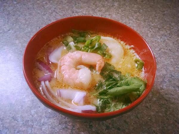 Thai Shrimp Curry Noodle Bowl Recipe