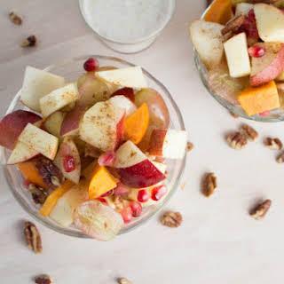 Fruit Salad with Greek Yogurt Dressing.