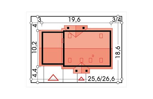 Anita wersja B z podwójnym garażem - Sytuacja