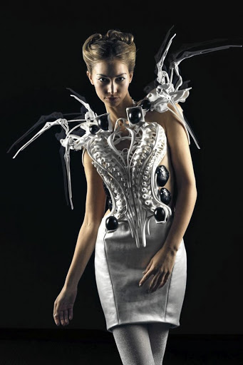 "Wipprecht's famous ""Spider Dress""."