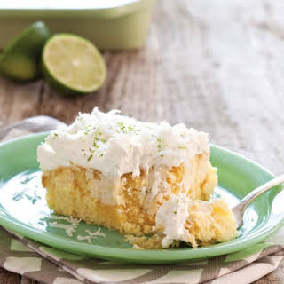 Key Lime Coconut Sheet Cake.