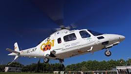 Un helicóptero ha trasladado al herido.