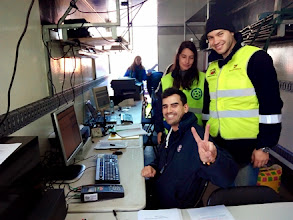 Photo: El director de carrera (Edgar Vigo), Andy (responsable de relación con los participantes) y Carlos EA1HUD.