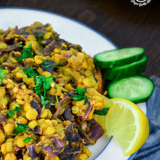 Red Cabbage Zucchini Chana Dal.