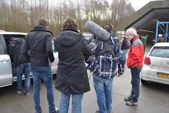 Photo: De pers wordt ontvangen