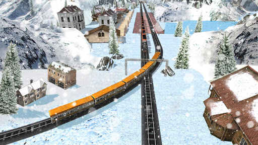 Impossible Indian Train Driving Game Sky City Sim  screenshots 2