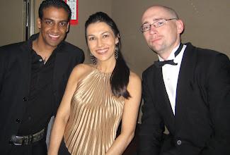 Photo: DJ Fabrice, Lilian & base player Jeff