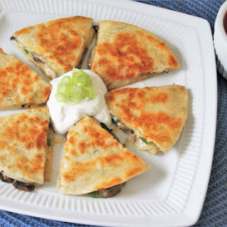 Buttery Mushroom and Jalapeno Quesadillas for One Recipe