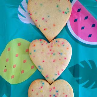 Funfetti Heart Cookies / Biscuits.