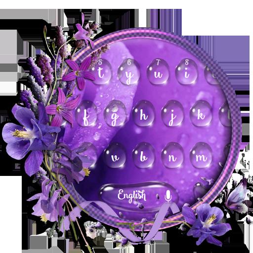 purple flower dew keyboard