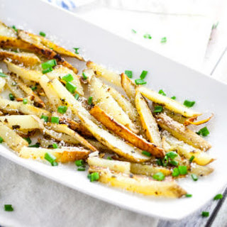 Garlic Chive Baked French Fries