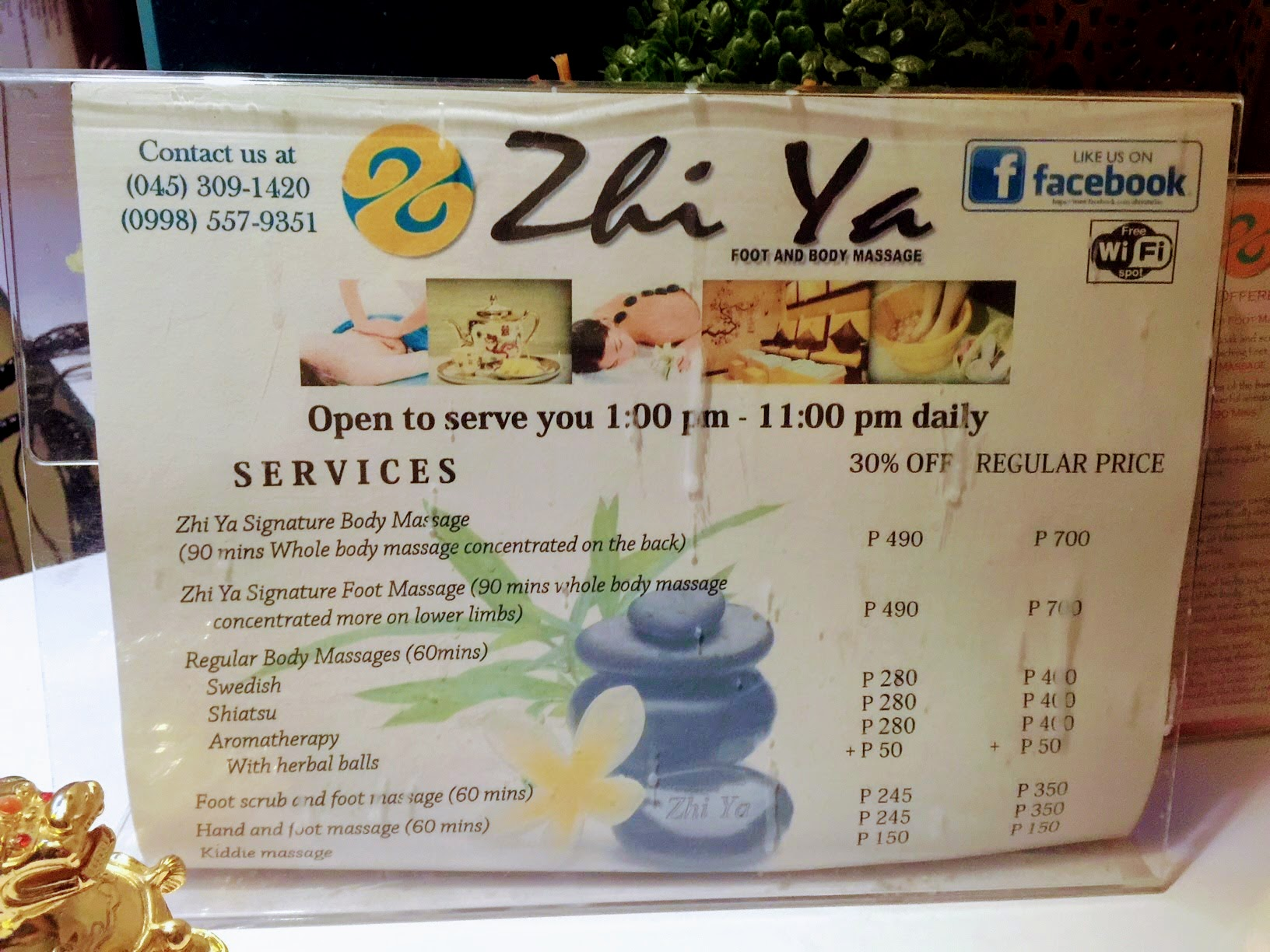 Zhi Ya Tarlac price list