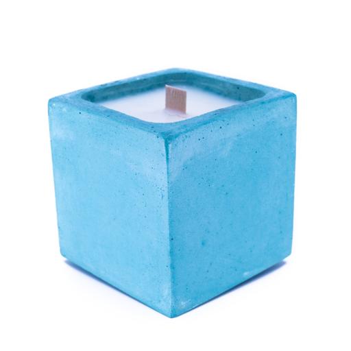 BOUGIE BETON turquoise