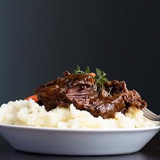 Short ribs in Irish stout.