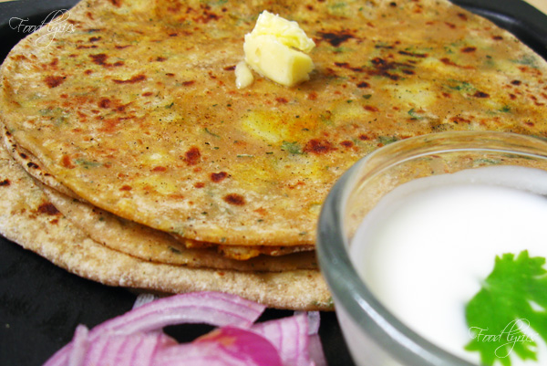 An ideal breakfast- Aloo Parantha