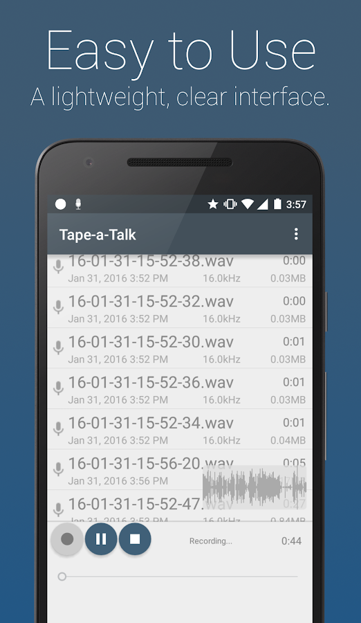 Tape-a-Talk Voice Recorder- screenshot