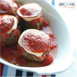 Low Carb Pepperoni Pizza Meatballs (Gluten Free)