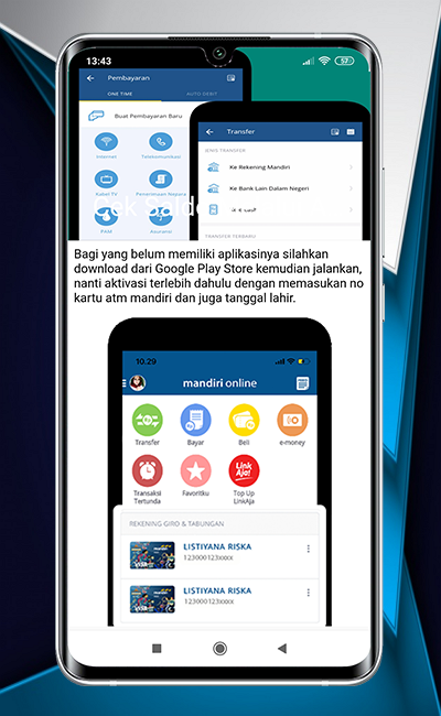 Cara Cek Saldo Mandiri Online 2 0 Apk Download Com Cekpediadev Caraceksaldomandirionline Apk Free