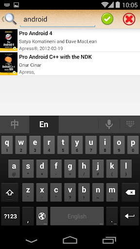 ePub Reader for Android 2.1.2 screenshots 2