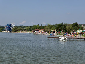 Photo: Eszaki Strand in Velence Hungary. Within 500m of wheelchair accessible holiday home of http://www.gehandicapten.com