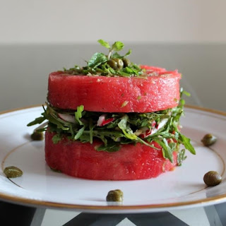 Watermelon, Radish and Rocket Leaves Salad Recipe