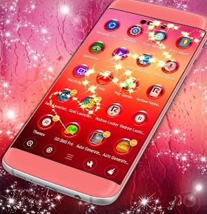 Zdarma Launcher růžový déšť - náhled
