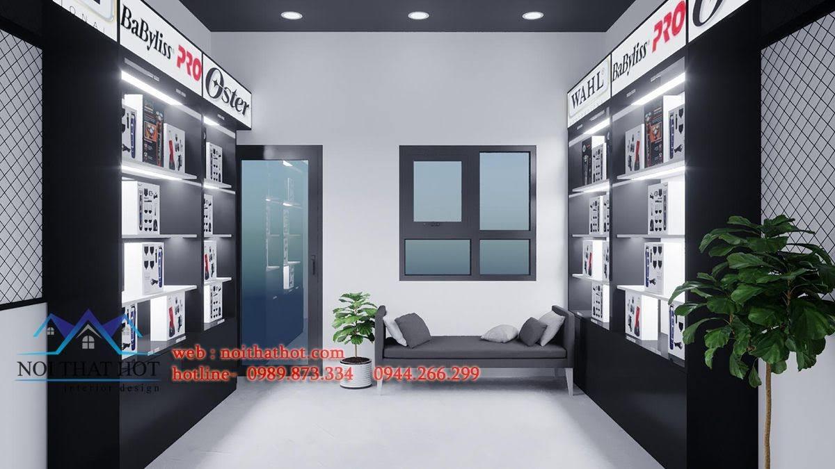 tủ trưng bày sản phẩm gắn led