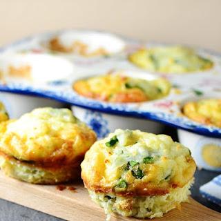 Asparagus Halloumi Potato Muffin Frittatas.
