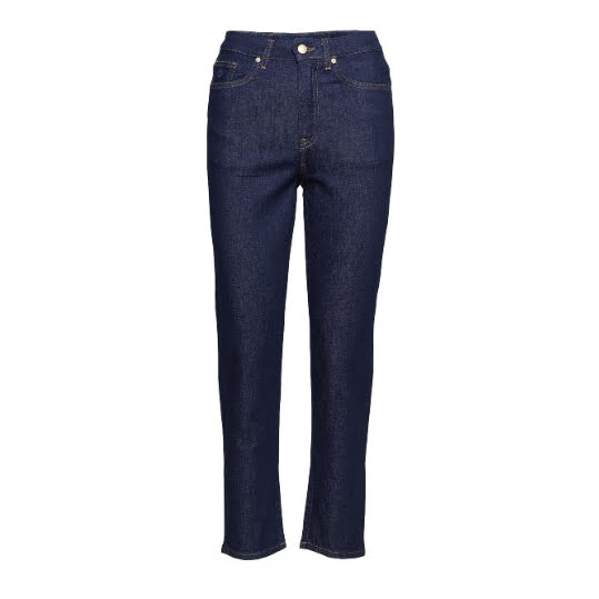 GANT Slim Cropped HW denim jeans 960 Dark blue. Strl 30