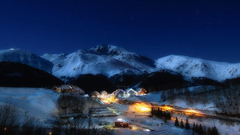 Luna piena a Prato Nevoso di Mauro Rossi