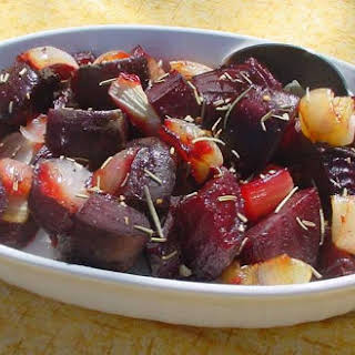 Roasted Beets and Onions.