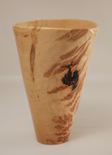 "Photo: Tim Aley 9 1/2"" x 7"" vase [hickory]"